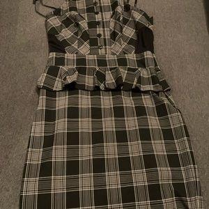 BeBe Plaid Halter Dress